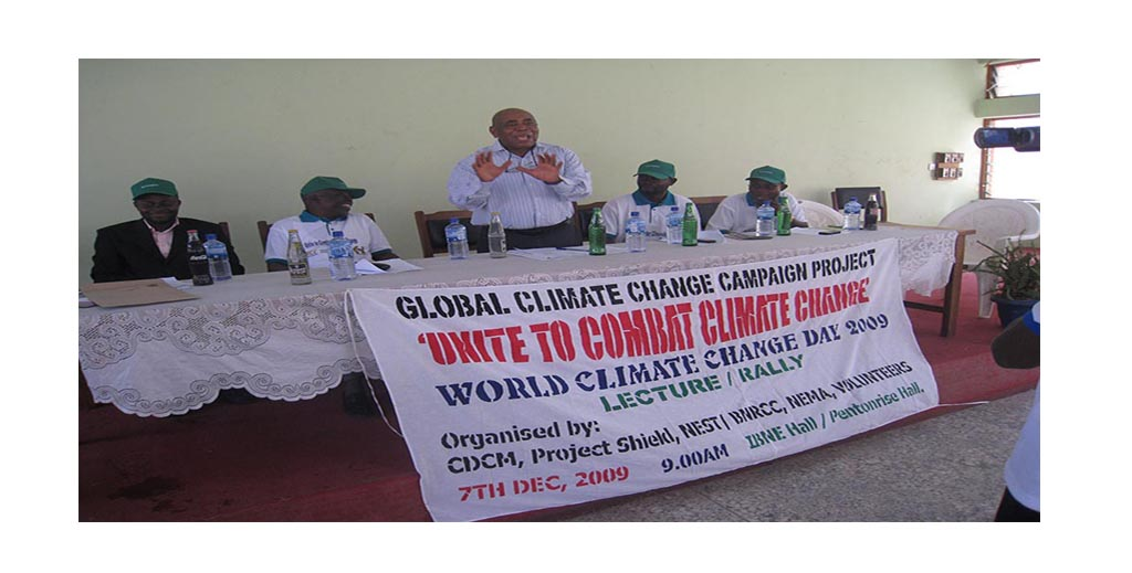 Prof. D. Okali (NEST Chairman) - Makes his Opening remarks at Global Climate  Campaign